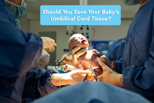 newborn baby with umbilical cord still attached