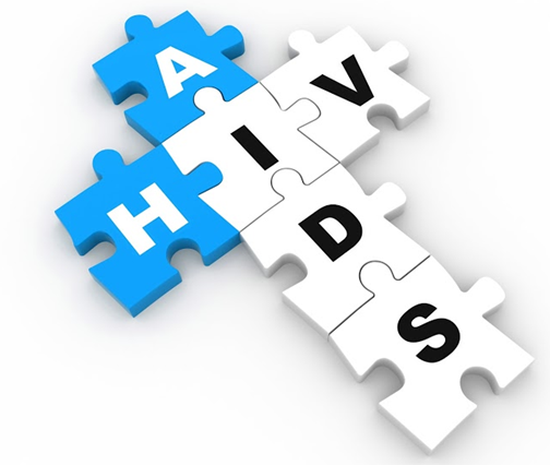 HIV Aids Words in a Puzzle